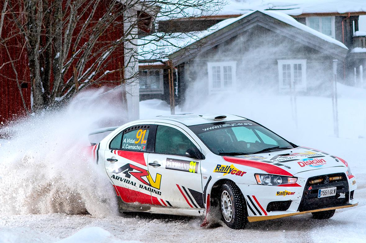 Amador Vidal Mitsubishi Lancer EVO X Rally Suecia